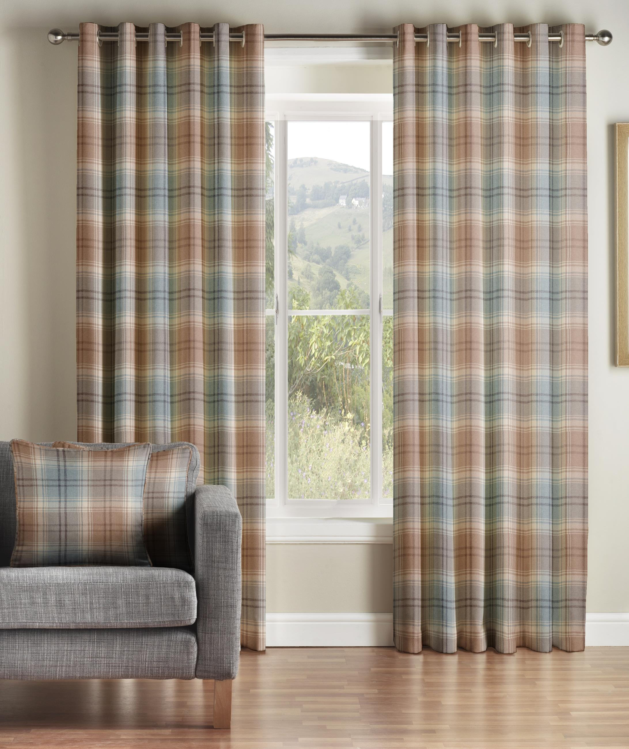 Tartan Check Kirkwall Curtains Curtains At Home
