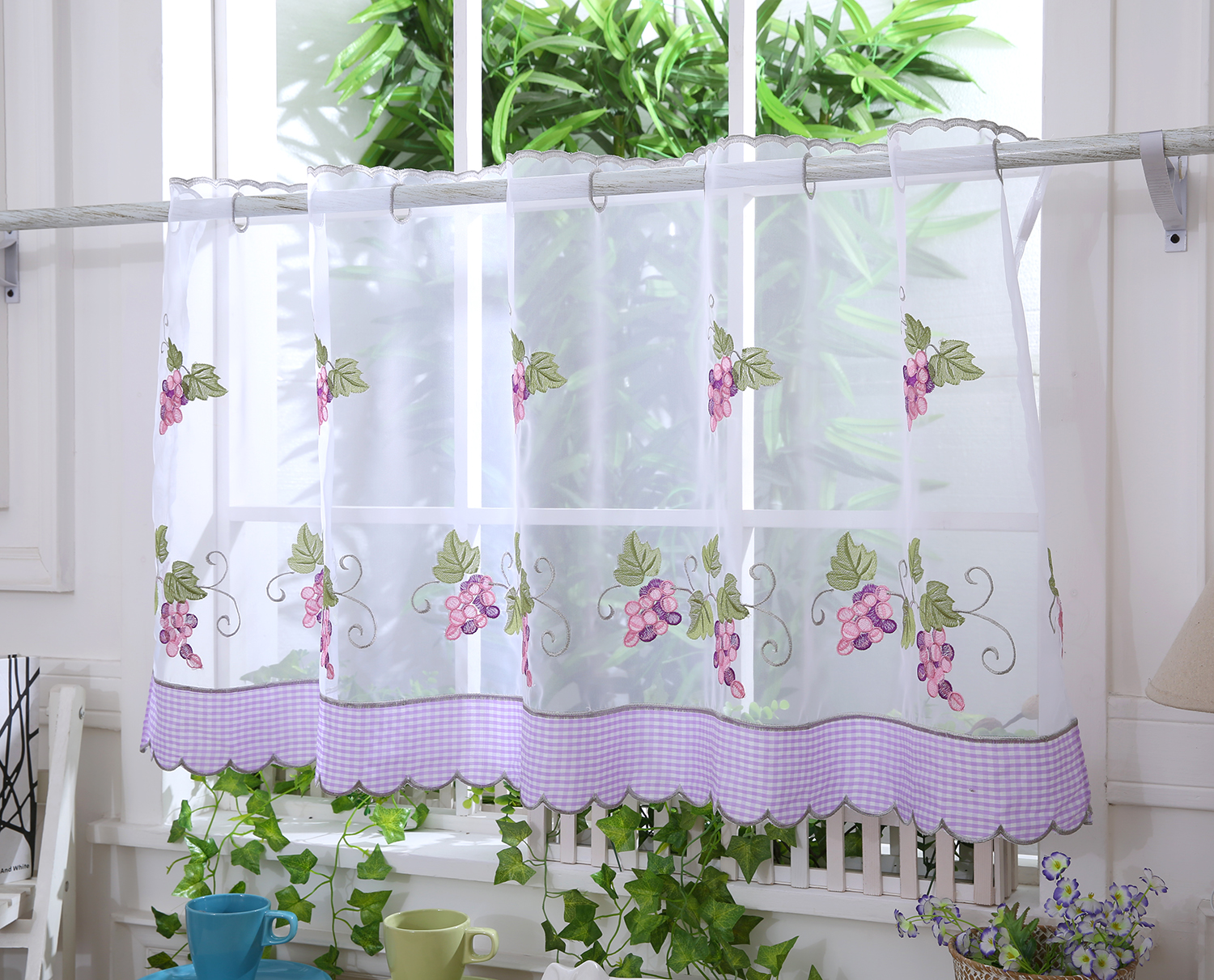 Grape Vine Cafe Net D12 Curtains At Home