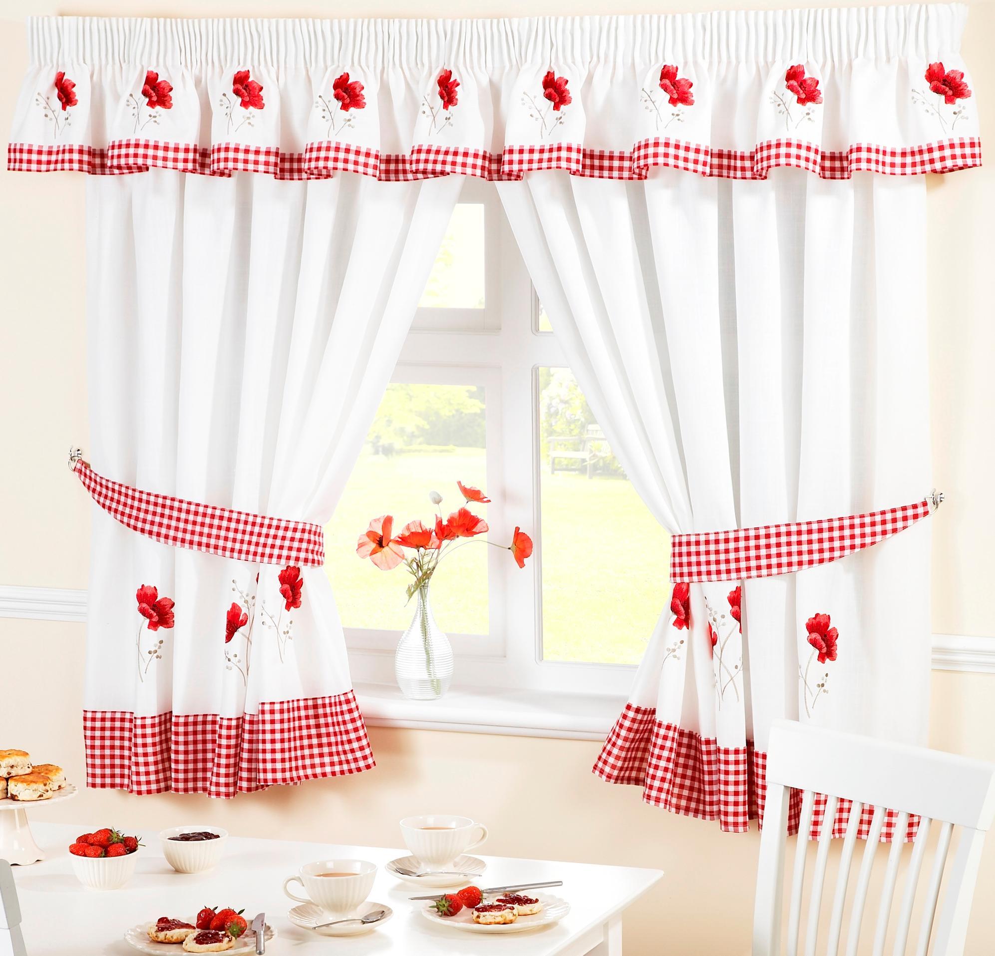 Nice Poppy Kitchen Curtains