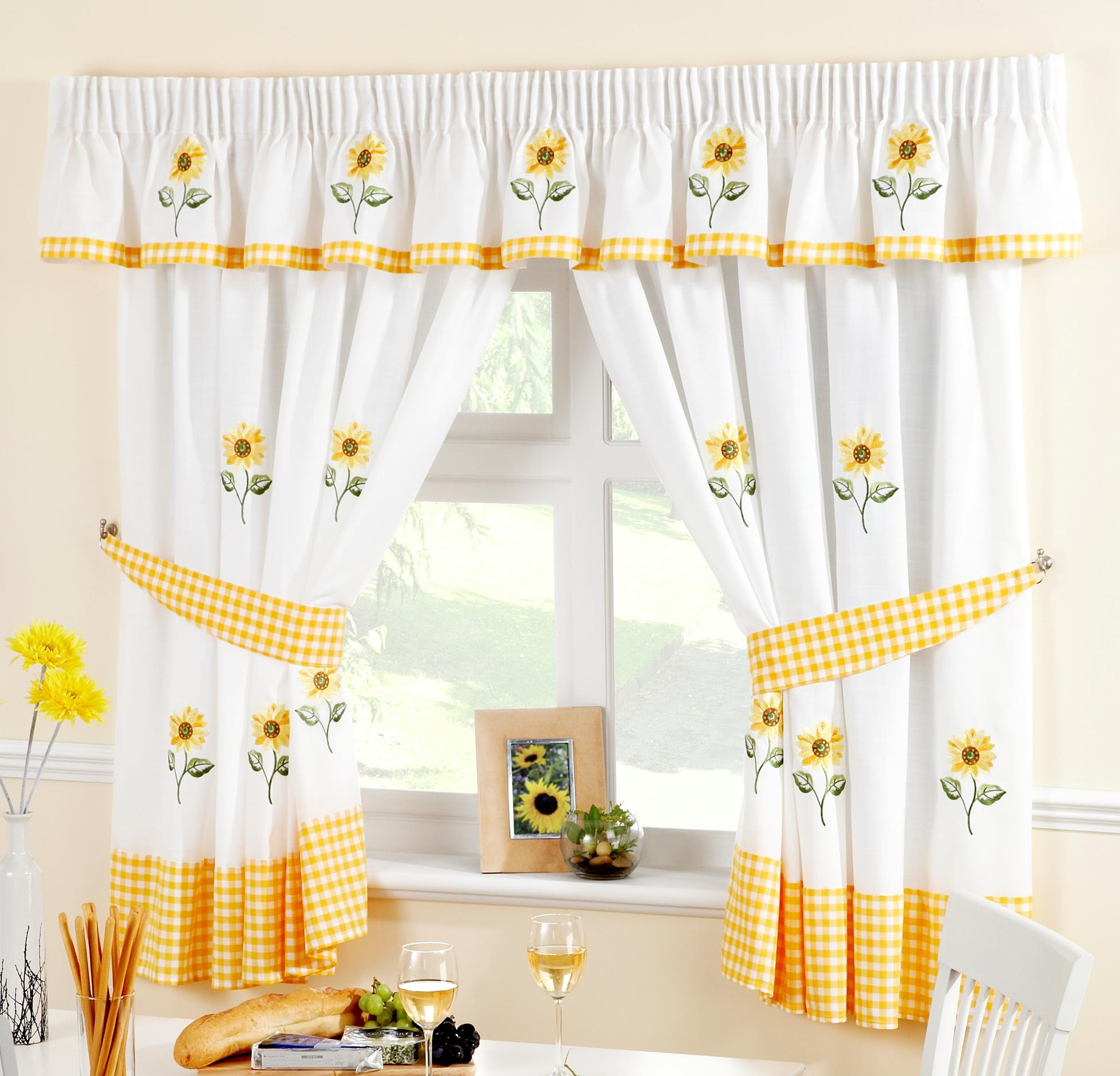Sunflower Kitchen Curtains – Curtains At Home