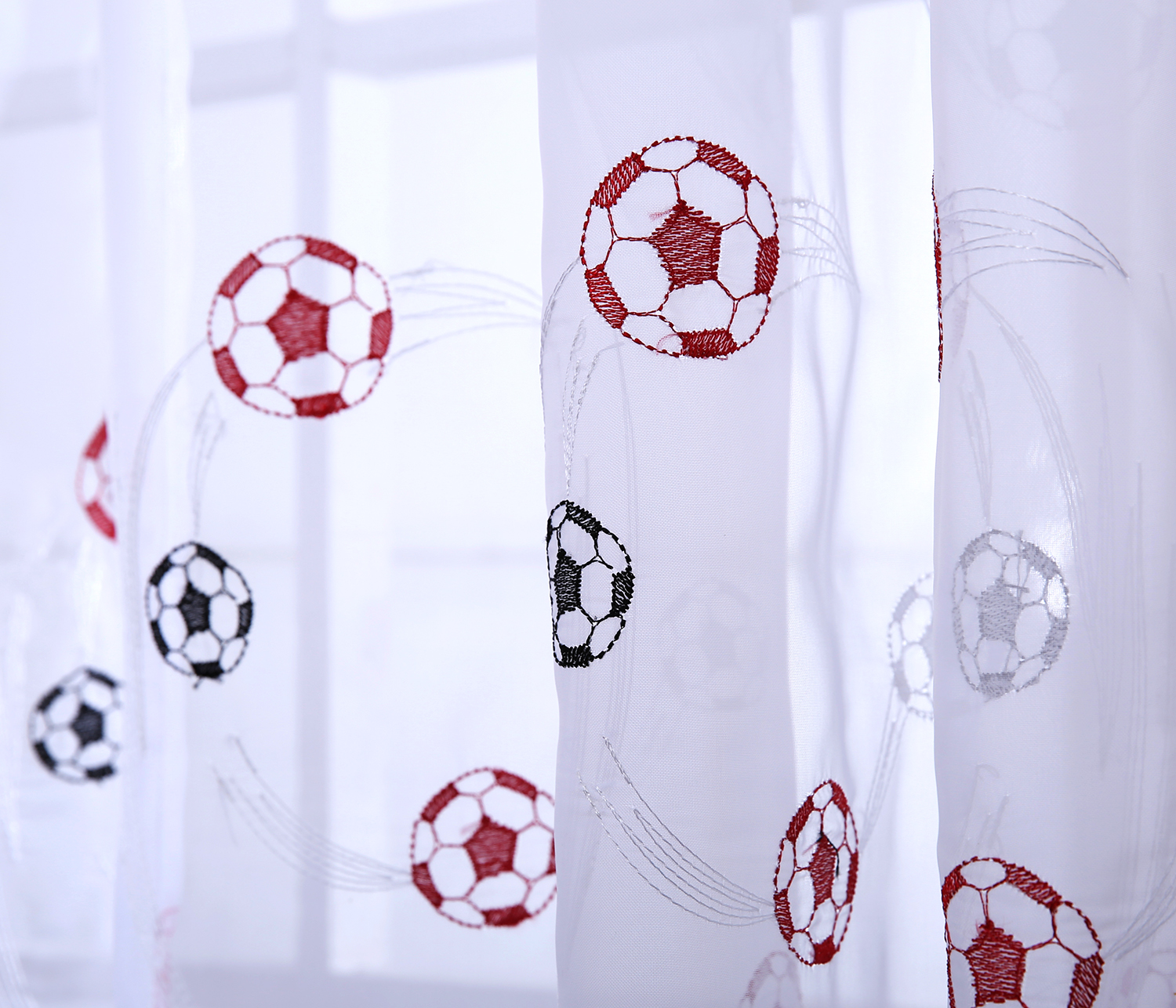 Football Panel Curtains At Home