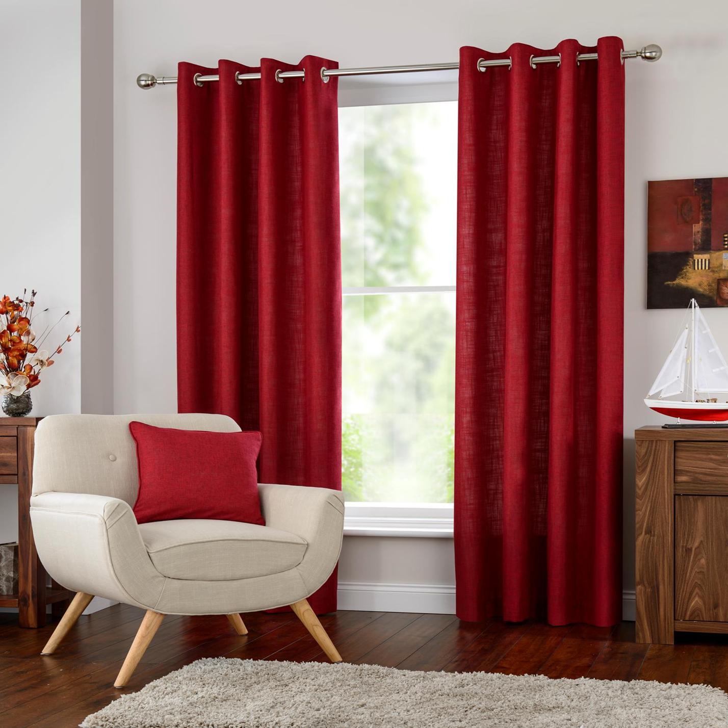 Halo Eyelet Curtains At Home