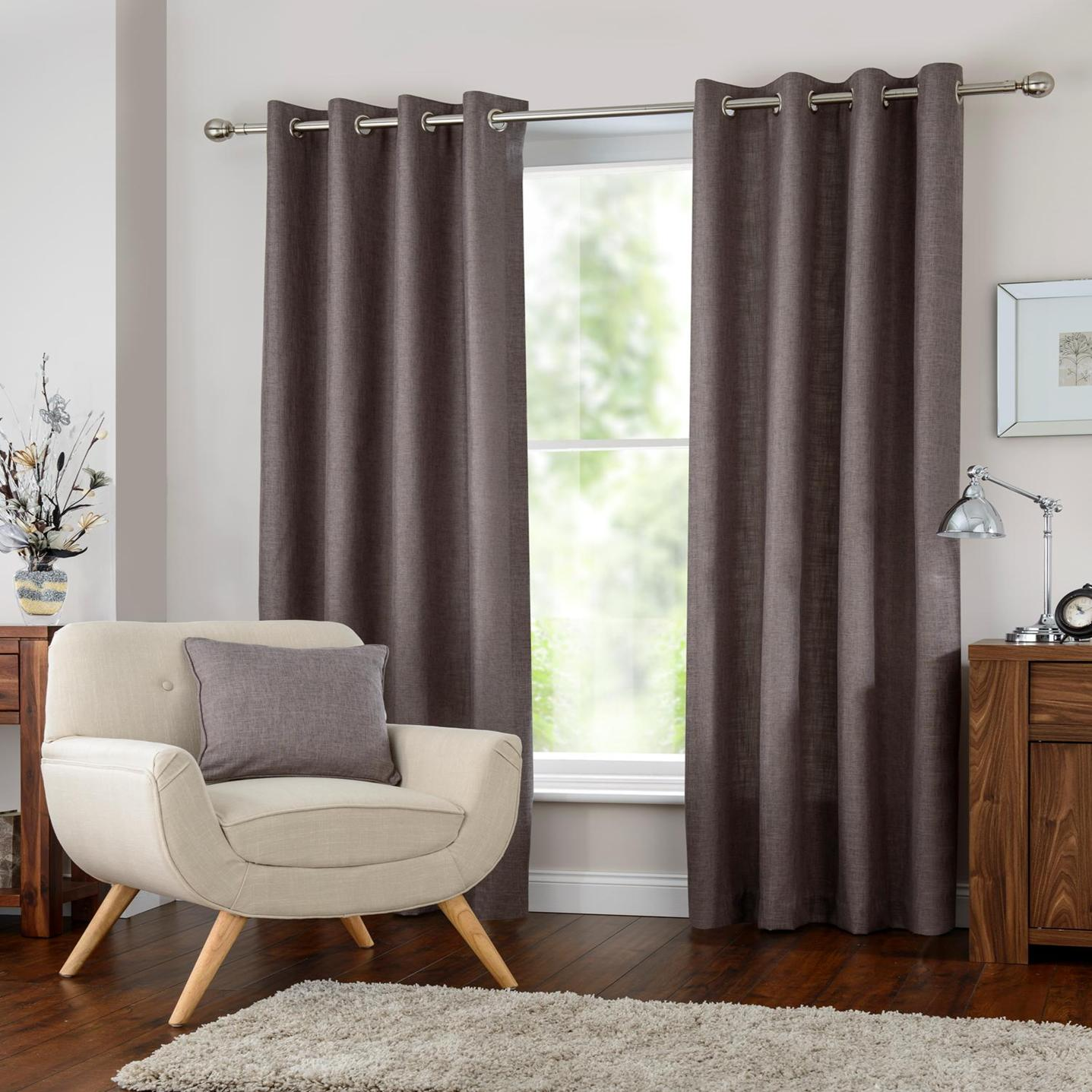 Halo Eyelet Curtains At Home