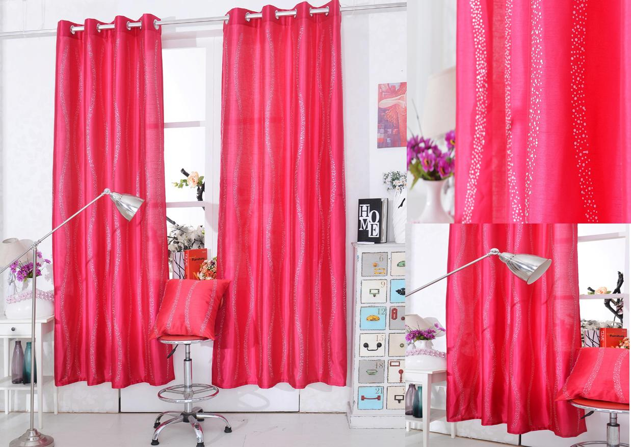 Clearance Diamante Pink Panel Curtains At Home