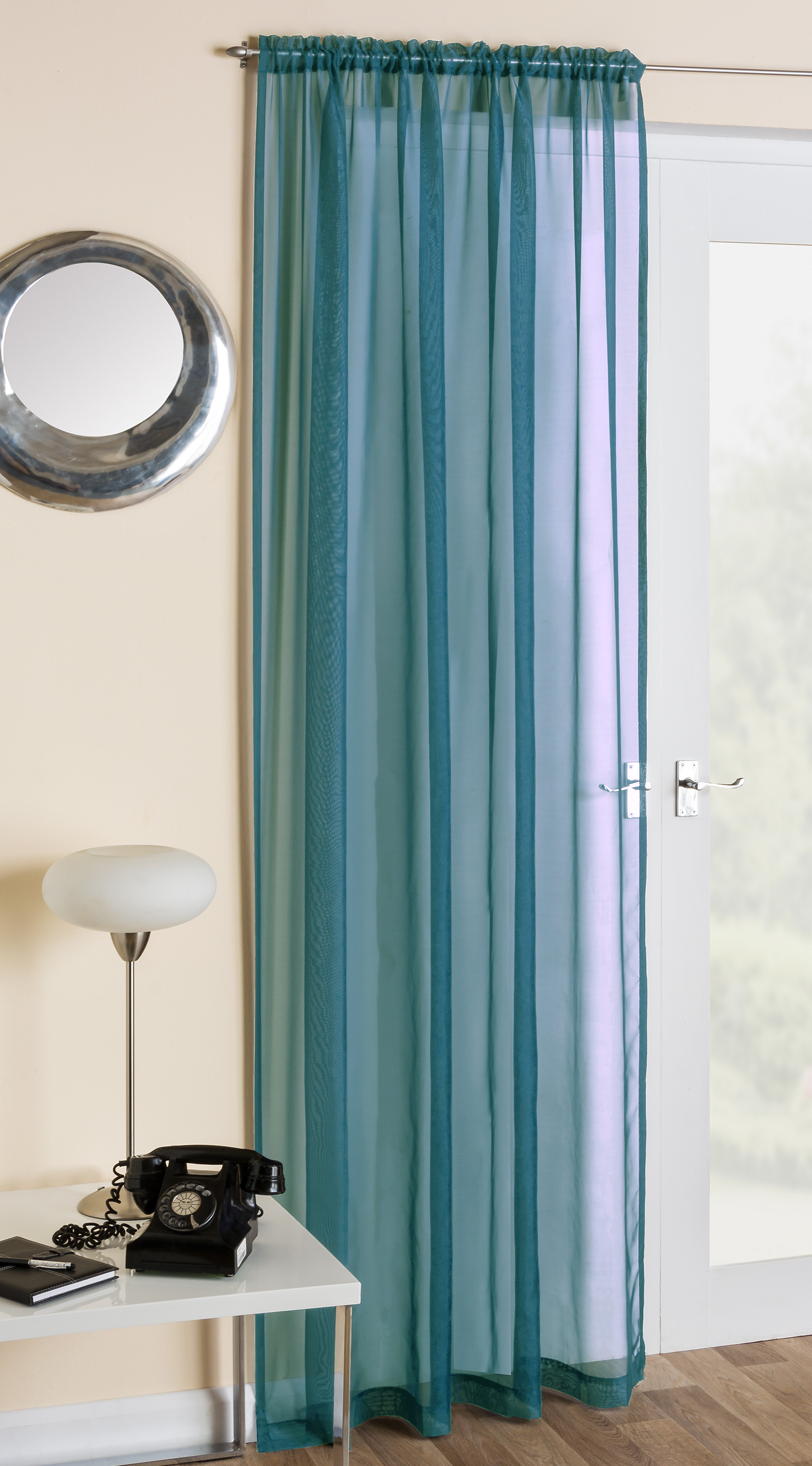 Crystal Plain Voile Panels Curtains At Home