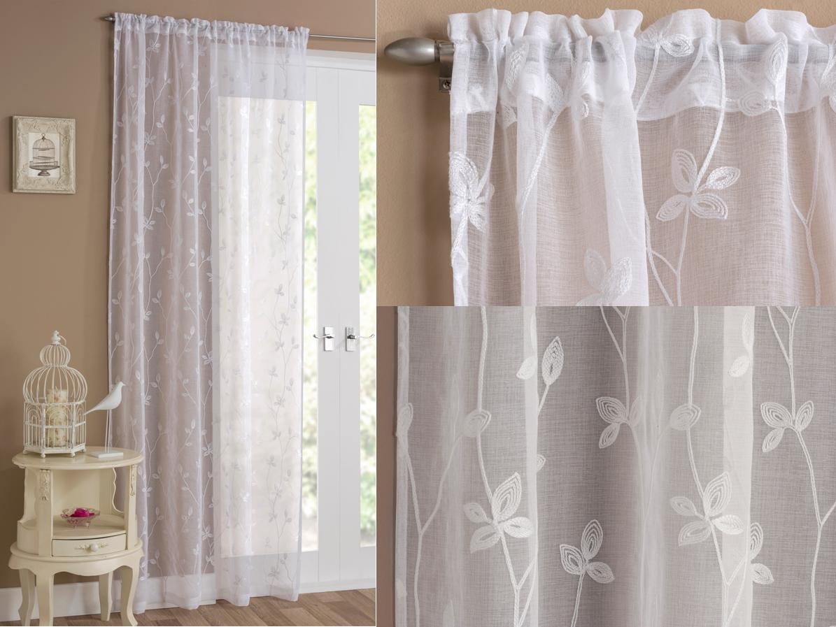 Florence Voile Panel Curtains At Home