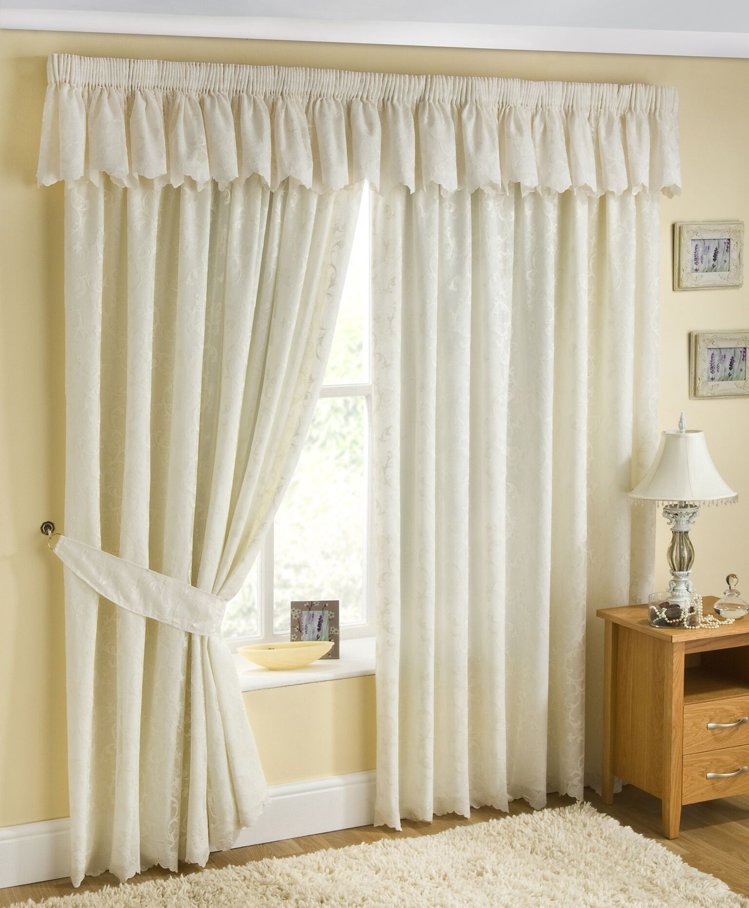 Perth Lined Voile Curtains Curtains At Home