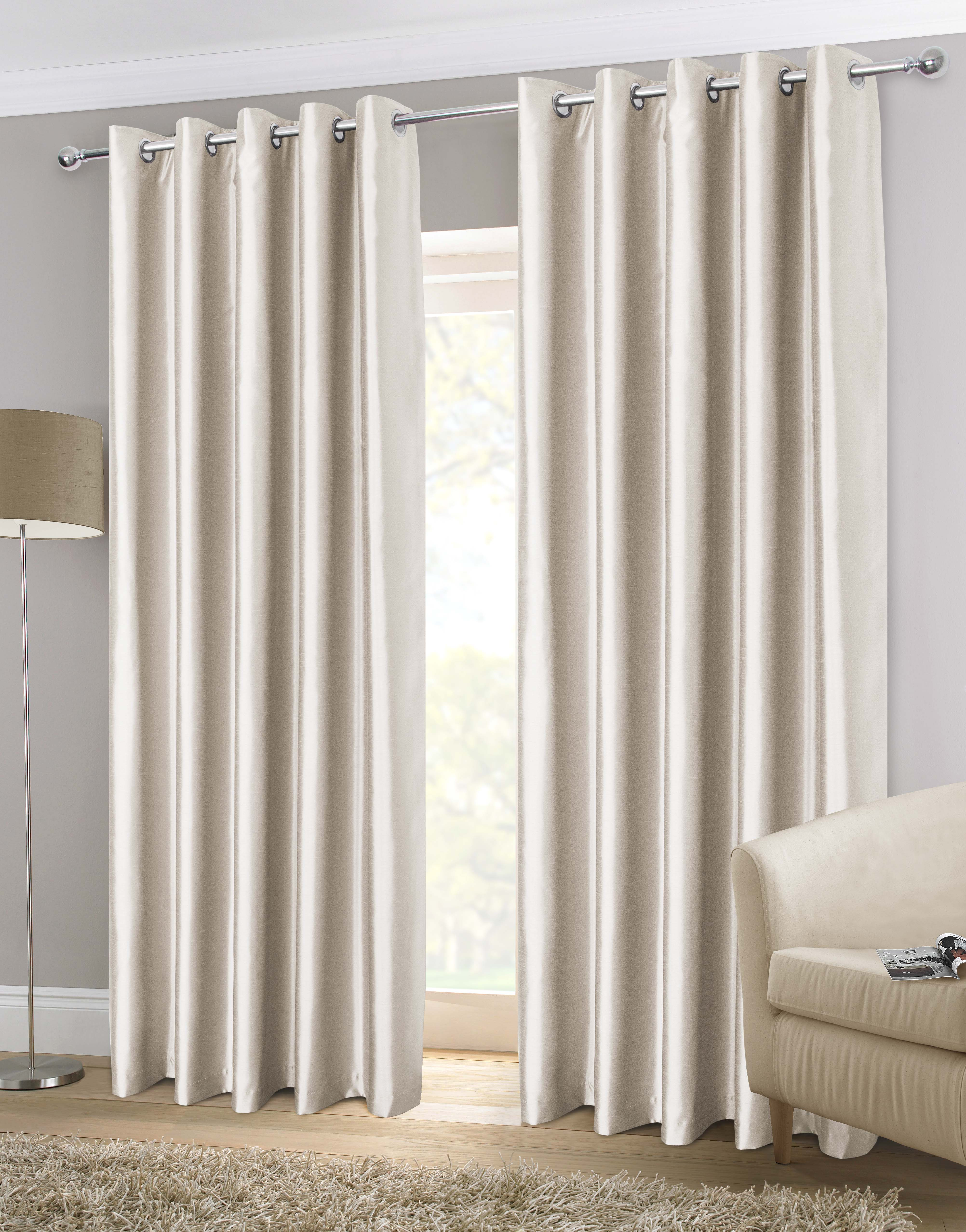 Faux Silk Eyelet Curtains At Home
