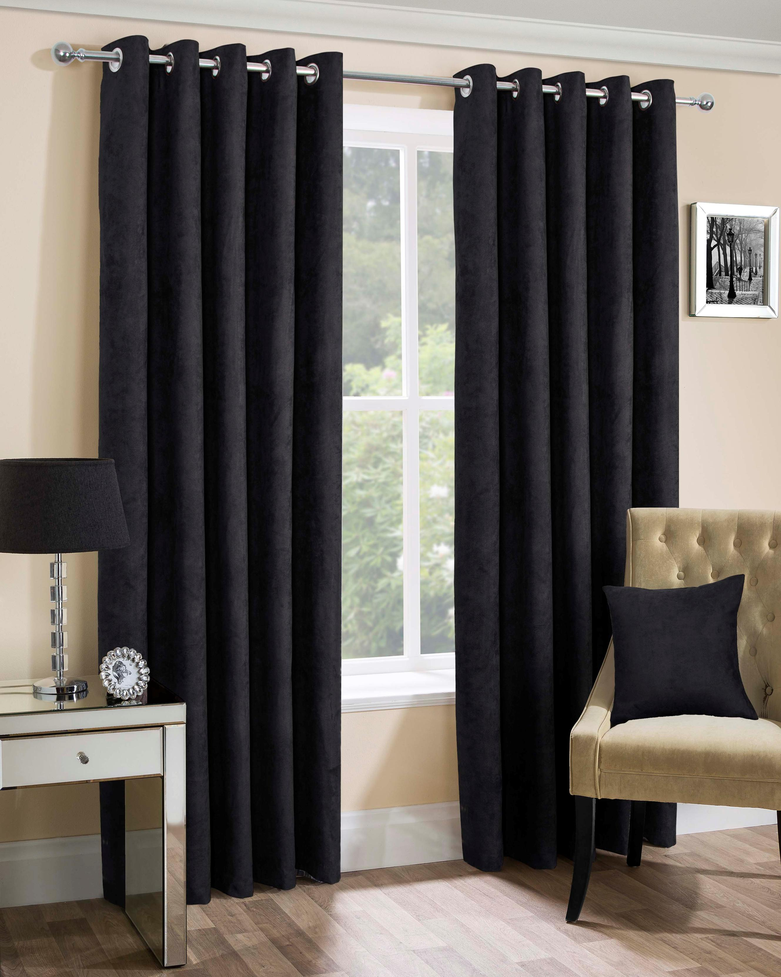 Faux Suede Eyelet Curtains Curtains At Home