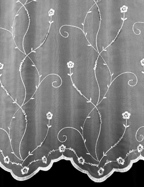 Cascade Sparkle Voile Curtains At Home