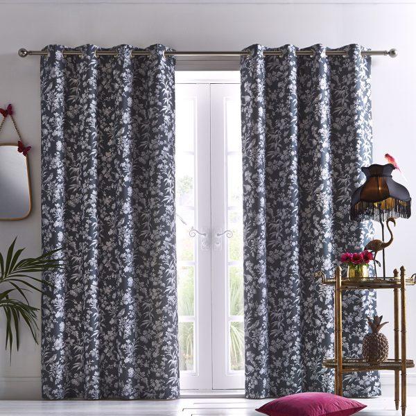 Amelia Curtain Charcoal
