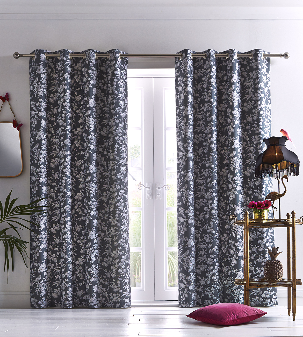 Oasis Amelia Curtains Indigo Curtains At Home