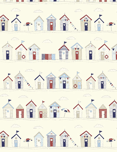 BEACH HUTS BLUE CLOSE