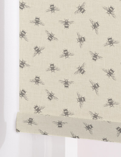 Bees Linen Roller Blind Curtains At Home