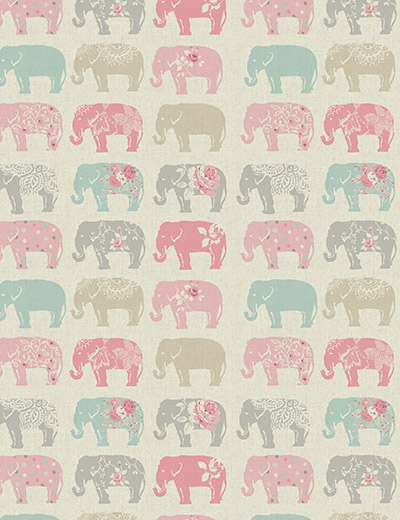 elephants pastel close