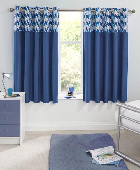 vortex eyelet curtains blue curtains at home. Black Bedroom Furniture Sets. Home Design Ideas