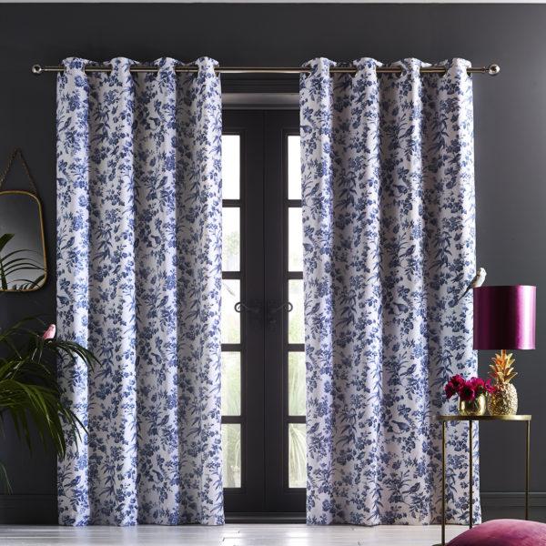 Amelia Curtain Blue