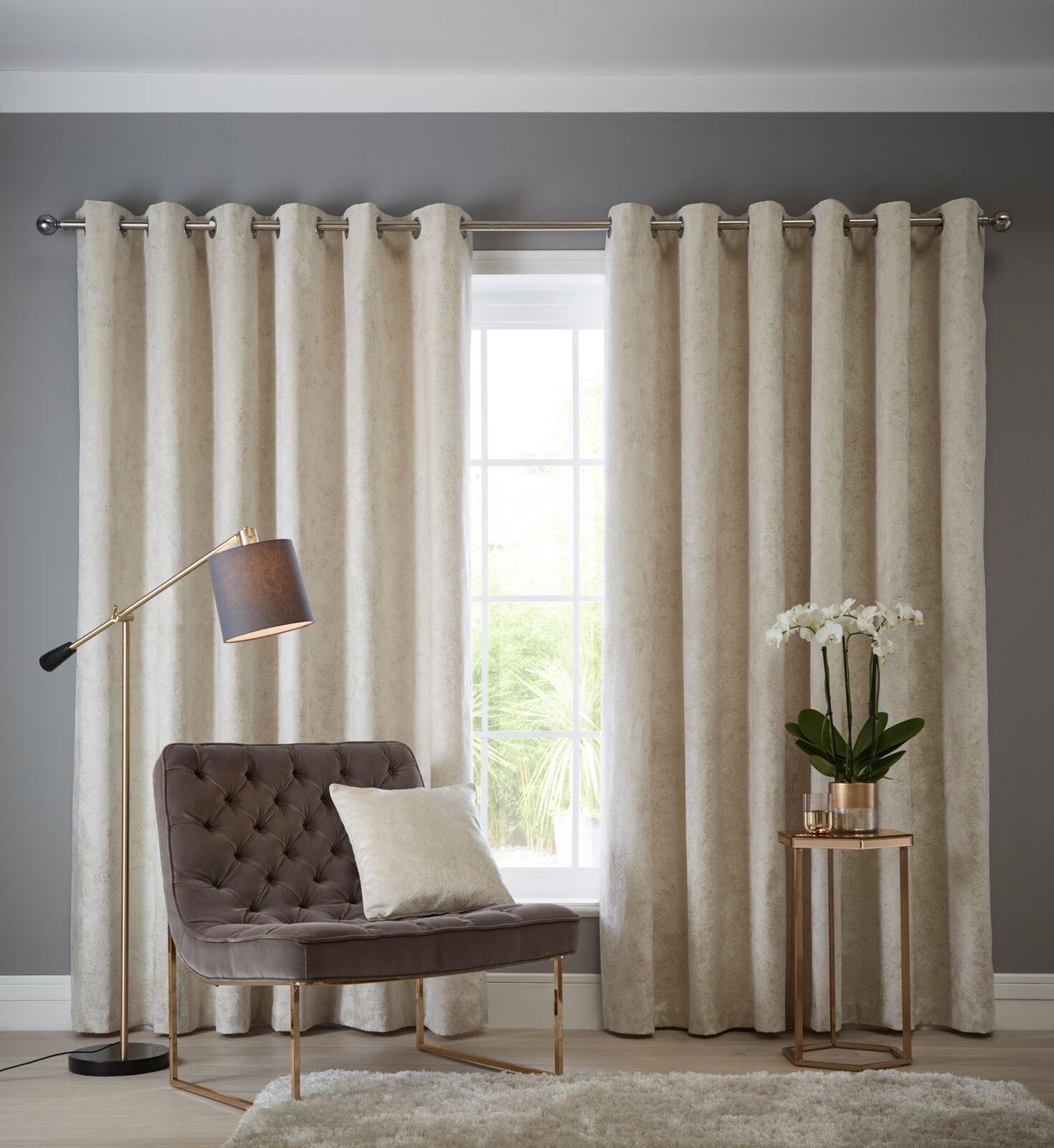 Navarra Eyelet Curtains Silver Curtains At Home
