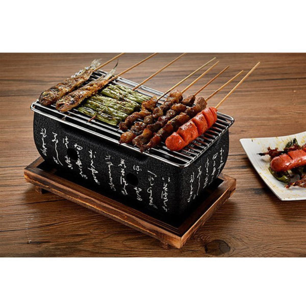 Teburu Large Table Top Charcoal Mini Bbq Grill Curtains