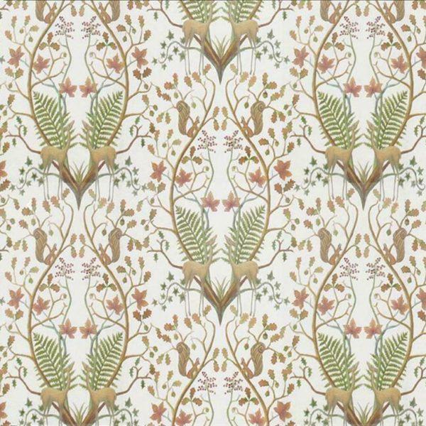 a woodland trail cream fabric cah