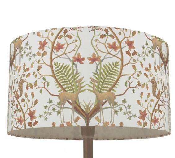 a woodland trail cream lampshade