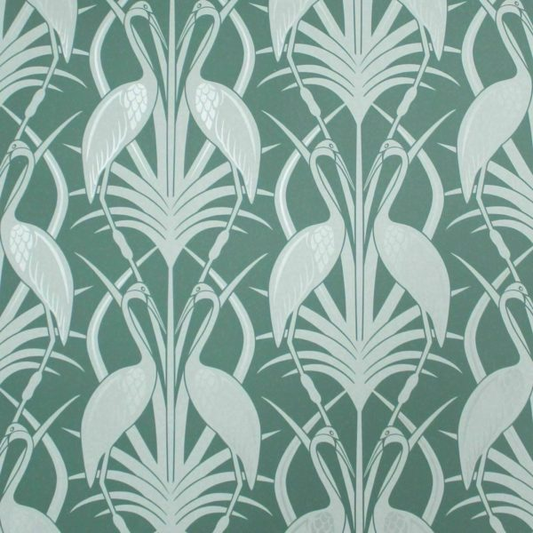 heron teal fabric