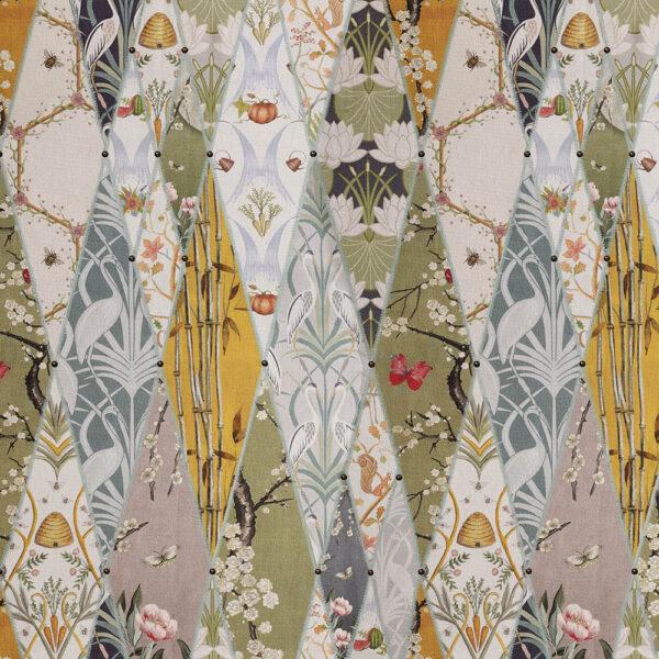 Nouveau Wallpaper Fabric flat shot