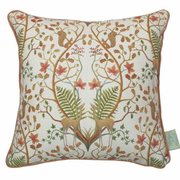 a woodland trail cushion CREAM