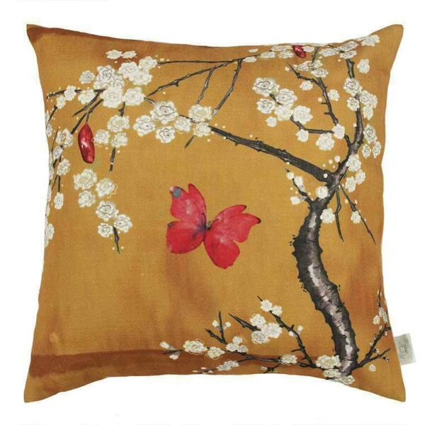 blossom cushion ochre